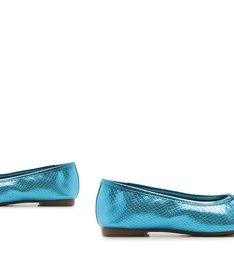 SAPATILHA BALLERINA SNAKE BLUE