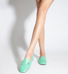 Sapato Mocassim Couro Verde Neon