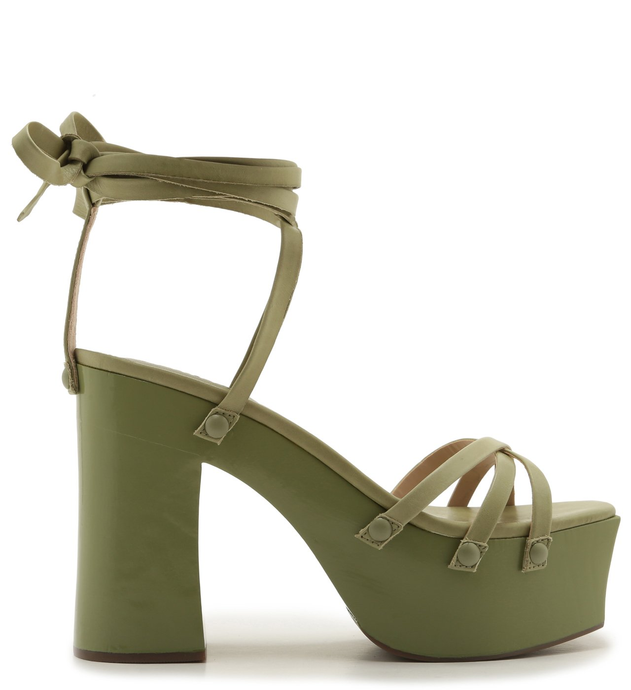 Sandália Strings Lace-Up Bold Green | Schutz