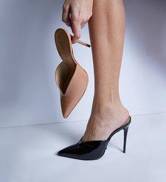 Mule Vamp High Heel Black