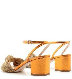 Sandália Block Heel Glam Gold