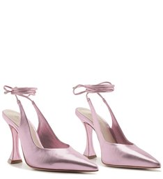 Scarpin Lace-Up Metallic Rose