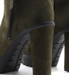 Ankle Boot Tratorada Verde-Militar