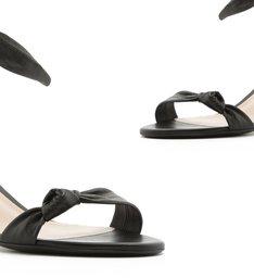 Sandália Block Heel Knot Black