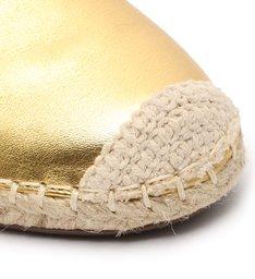 Flat Mule Espadrille Gold