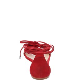 Sandália Salto Rasteiro Vermelho