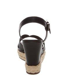 Sandália Anabela Leather Black