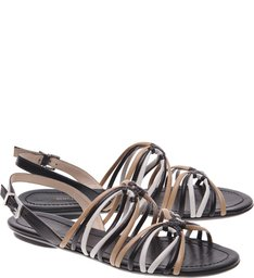 Flat Multi Stripe Black