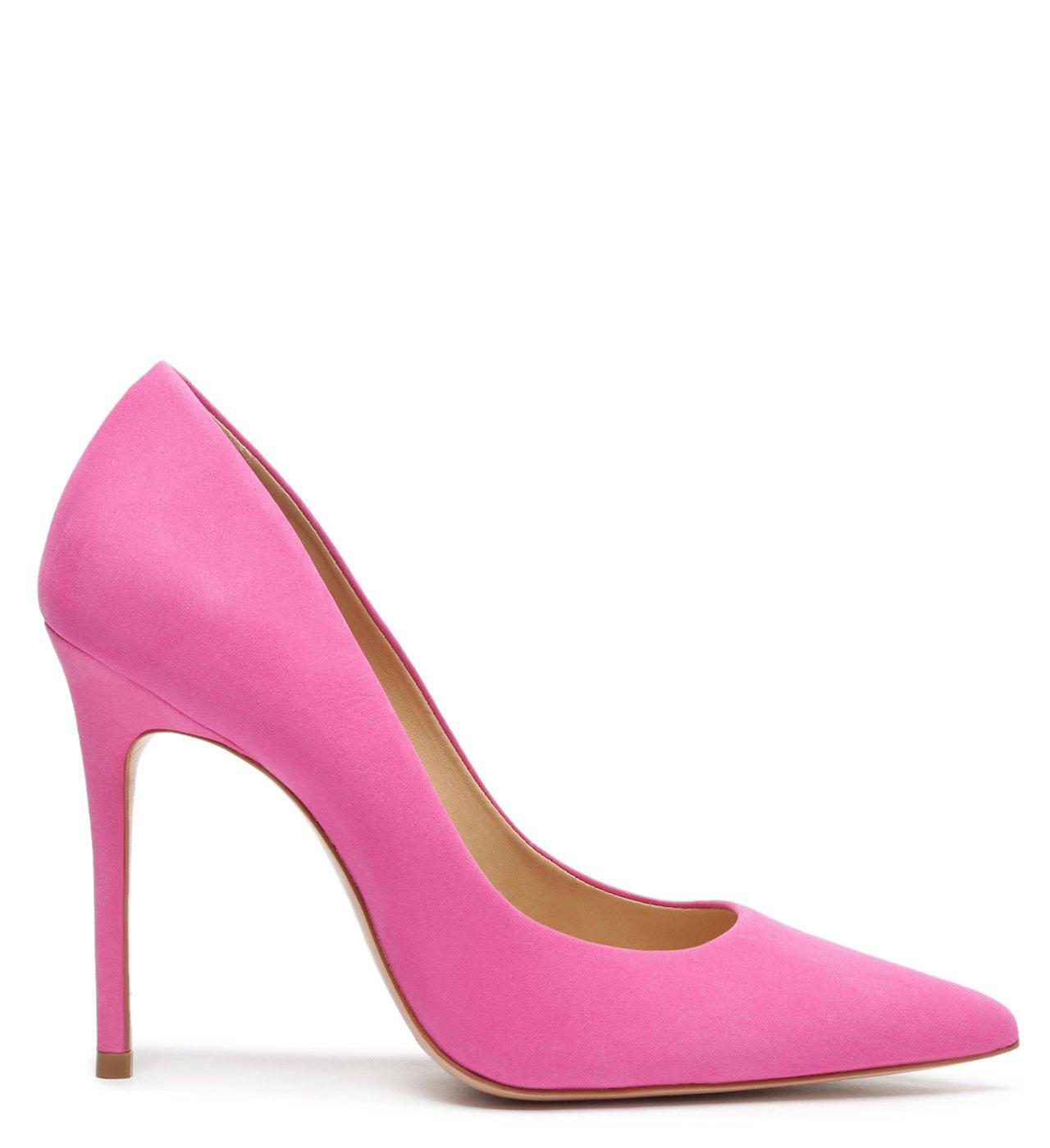 Sapato Scarpin Salto Nobuck Pink | Schutz