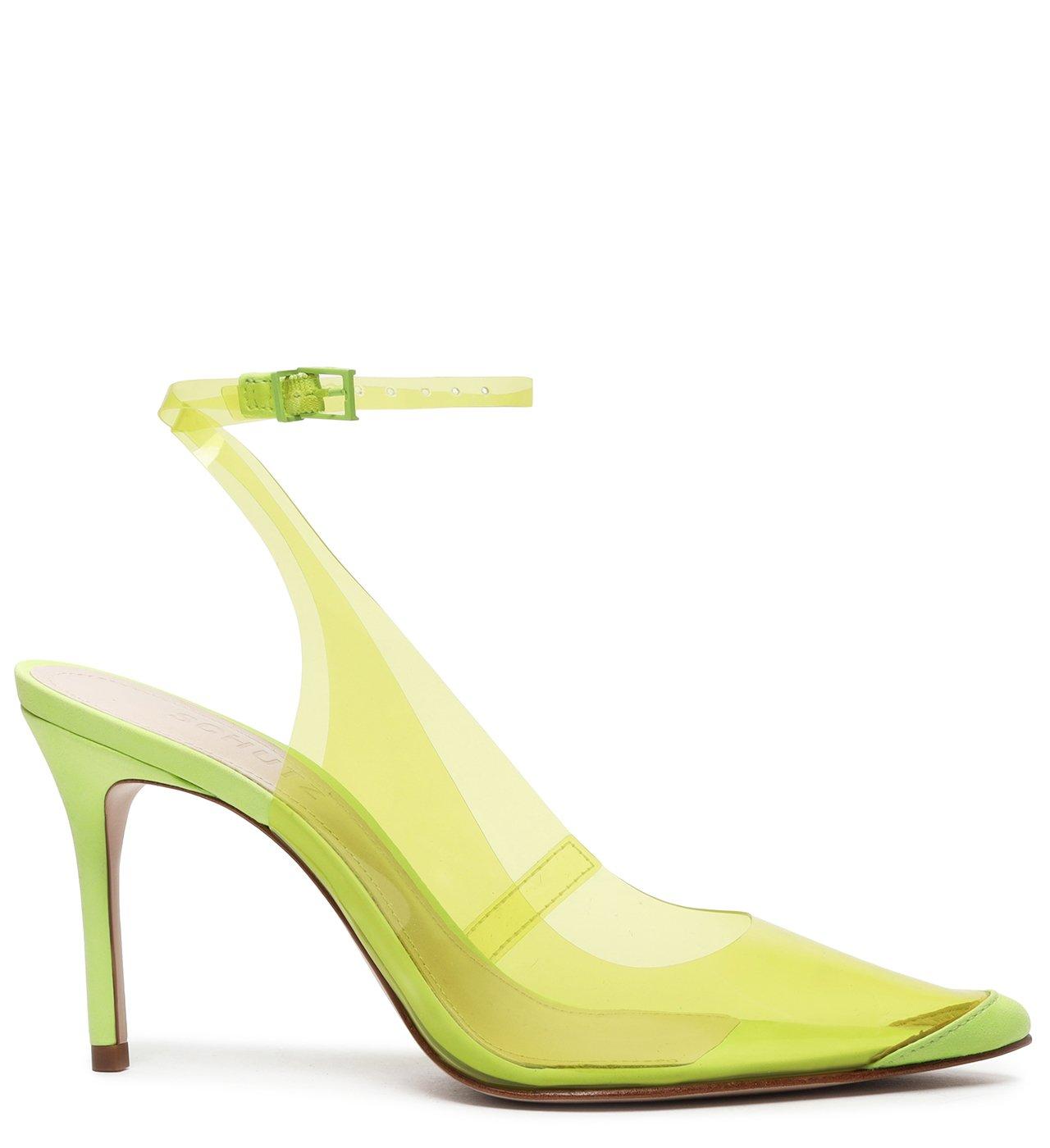 Scarpin Vinil Slingback Lime | Schutz