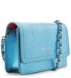 CROSSBODY 4GRLS LORENA SNAKE METALLIC BLUE