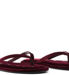 Homewear Flat Flip Flop Ava Velvet Wine