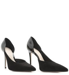 Scarpin Cut Out Verniz Mix Black