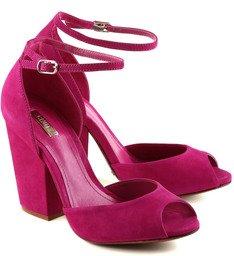 Sandália Salto Bloco True Pink