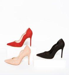 Sapato Scarpin Nobuck Curves Preto