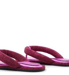 [On Demand] Homewear Flat Flip Flop Emi Disco  Pink
