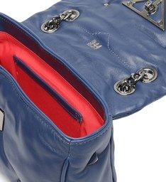 Bolsa Tiracolo Pequena Couro 944 Azul Navy