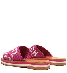 Rasteira Flatform De X Logo Schutz Pink