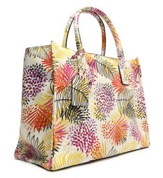 Bolsa Shopping Grande Agnes Couro Estampa Colorida