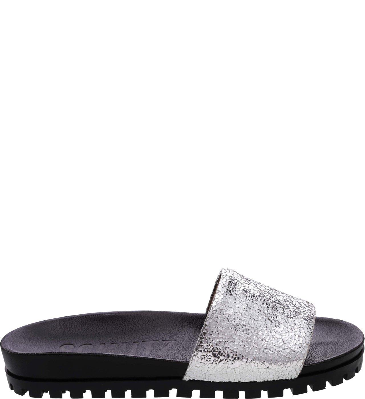 Flat Slide Sola Tratorada Silver   Schutz