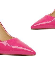 Sapato Scarpin Verniz Pink