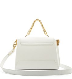 Satchel Buckle Bag White