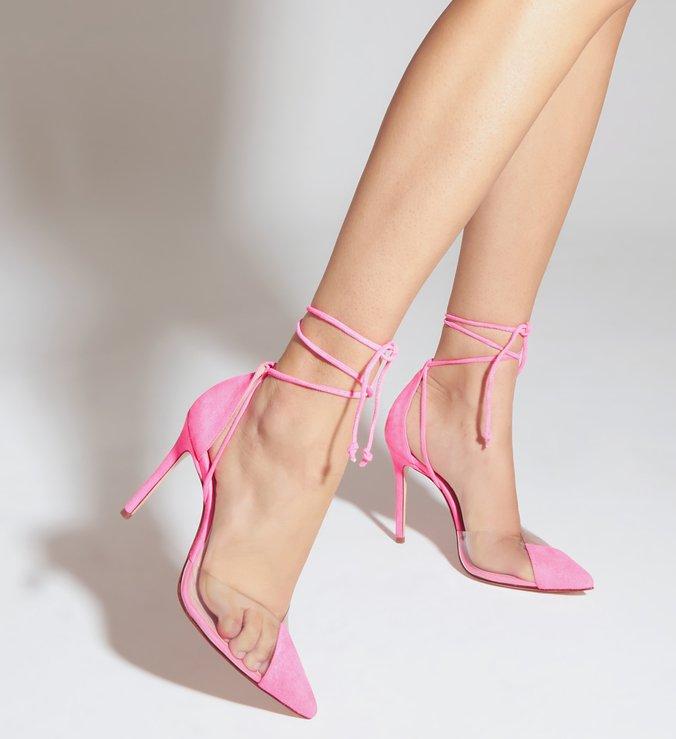 Sapato Scarpin Vinil Rosa