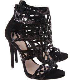 Sandália Geometric Stiletto Black