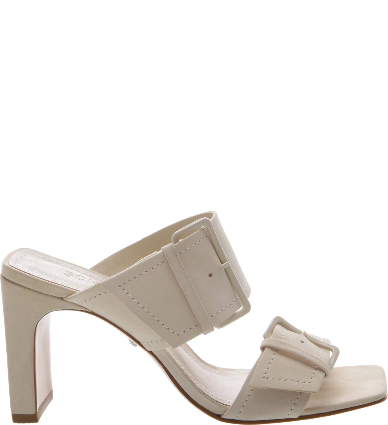 Sandália Mule Super Buckle Egg Shell | Schutz