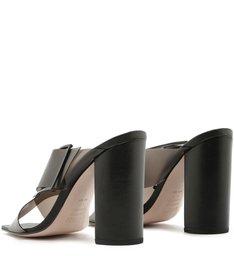 Mule Salto Bloco Vinil Full Color Black