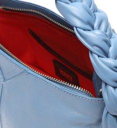 Bolsa Tiracolo Pequena Jenna Couro Azul