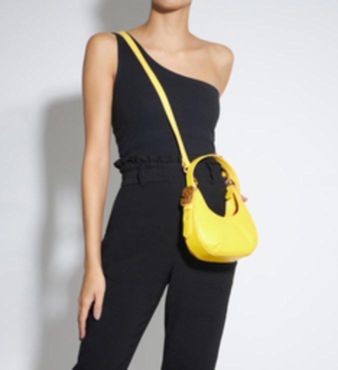 Bolsa Tiracolo Shoulder Bag Couro Amarela