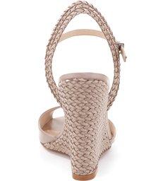 Sandália Wedge Peep Toe Oyster