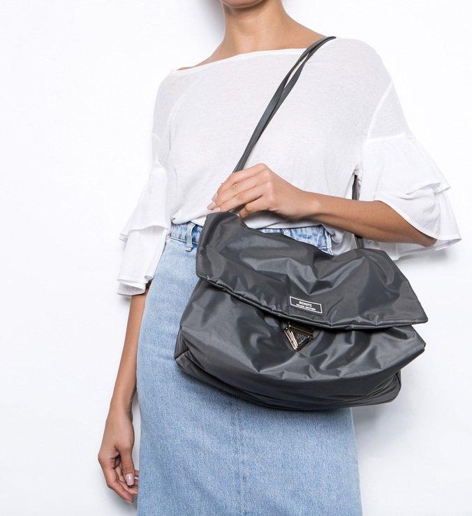 Shoulder Bag Nylon Grafite
