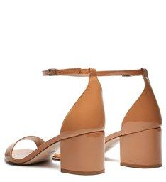 Sandália Minimal Block Heel Verniz Toasted