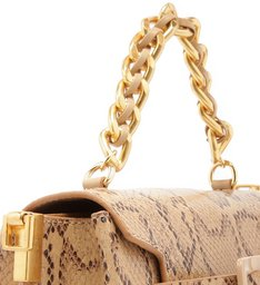 Satchel Buckle Bag Python