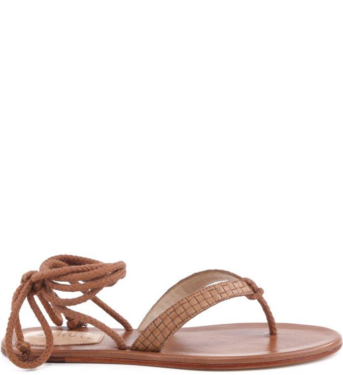 Flat Sandal Lace Up Bamboo