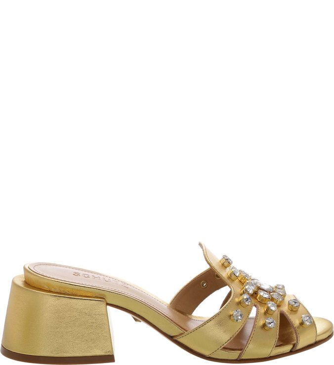 Mule Chunky Glam Gold | Schutz