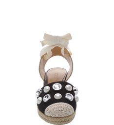 Sandália Espadrille Glam Stones Black