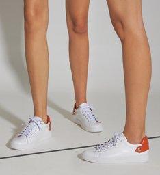 Tênis New Ultralight White & Orange
