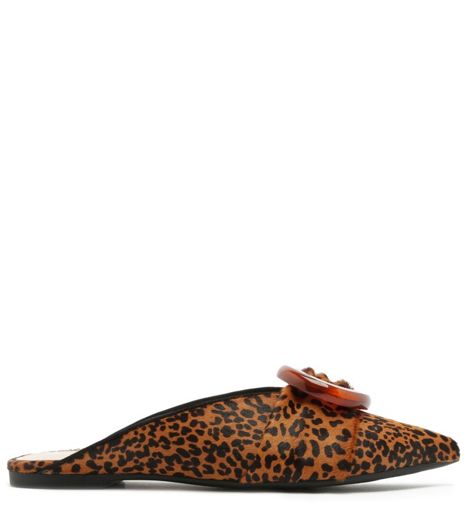 Flat Mule Animal Print Buckle | Schutz