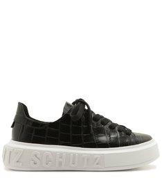 Tênis It Schutz Croco Verniz Black