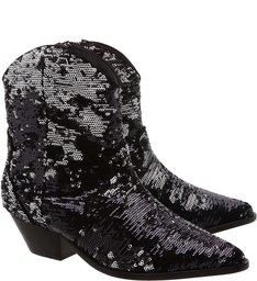 Cowboy Boot Paetes Black