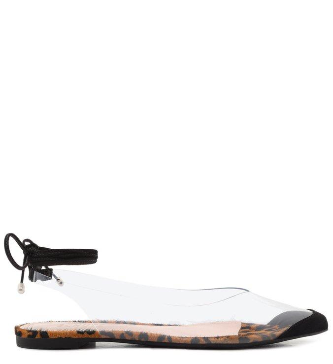 Flat Vinil Lace-Up Nobuck Animal Print