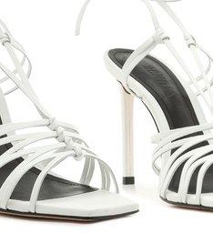 Sandália MultiStrings Lace-Up White