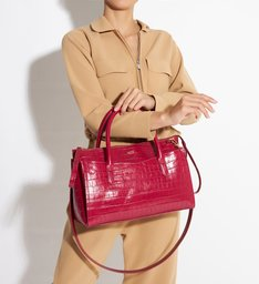 Tote Penelope Croco Red