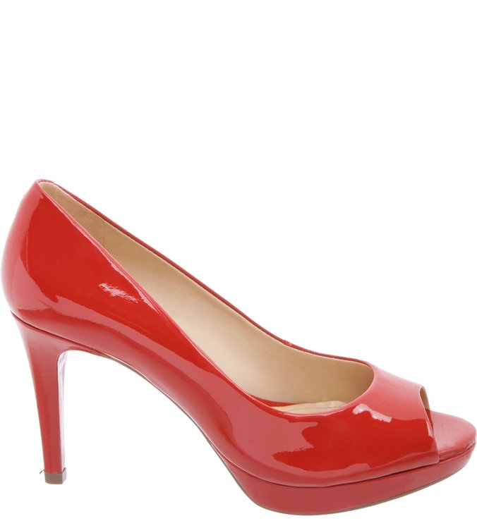 Peep Toe Verniz Red