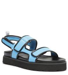 Sandália Papete Flatform Azul