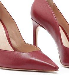 Scarpin Cut Brown Red