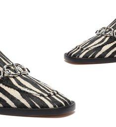 Mule Rasteira Estampa Zebra